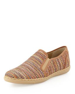 Maya Woven Slip On, Poppy/Natural   Donald J Pliner   Poppy/Natural (39.0B/9.0B)
