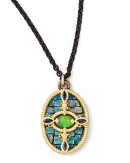 Opal Mosaic Pendant Necklace, 17L   Armenta   Gold