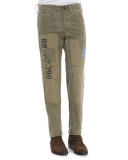 Mens Patched Utility Pants, Military Olive   True Religion   Military olive