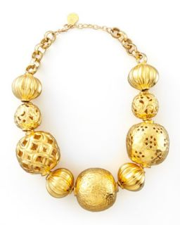 Golden Ball Necklace   Devon Leigh   Gold
