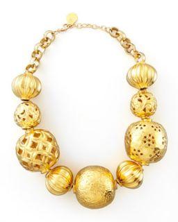 Golden Ball Necklace   Devon Leigh   Gold