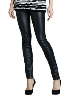 c836cff4a646e Womens Faux Leather Leggings M Missoni Black ...