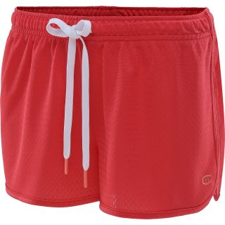 CHAMPION Womens Authentic 2.5 Novelty Shorts   Size: L, Fiery Red