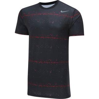 NIKE Mens Rally Sphere Striped Short Sleeve Tennis T Shirt   Size: L,