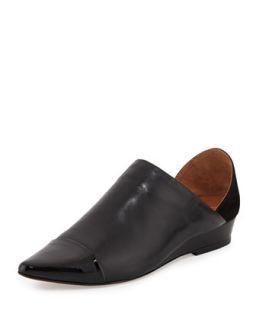 Ava Capped Pointed Toe Flat, Black   10 Crosby Derek Lam   Black (37.5B/7.5B)