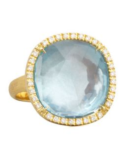 Jaipur Sunset Diamond Bezel Blue Topaz Ring   Marco Bicego   Blue (7)