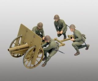 Fine Molds IJA Type 41 Mountain Gun Regimental Gun Kit, 75mm, 135 Scale Toys & Games