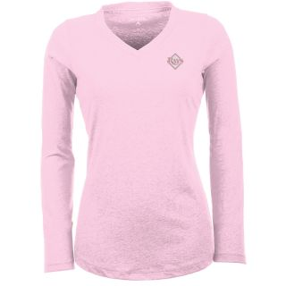 Antigua Tampa Bay Rays Womens Flip Long Sleeve V neck T Shirt   Size: Large,