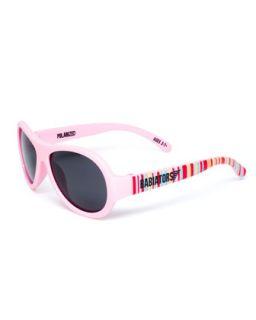 Polarized Kids Sunglasses, Pink, Ages 3 7   Babiators   Pink pattern (3 7Y)