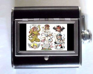 a266277741d ... Trailer Trash Tattoo Pin Up 5oz Whiskey Flask