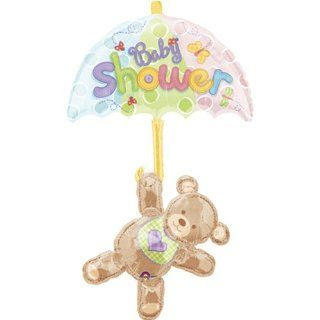 "Hugs & Stitches Baby Shower Bear Jumbo Mylar Balloon   24"" x 49"" Toys & Games"