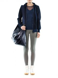 Weekender mesh hooded sweatshirt  Adidas by Stella Mccartney