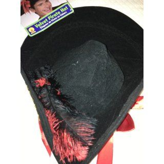 Rubie's Costume Pirate Hat Costume, Black, One Size Clothing
