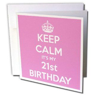 gc_163840_2 EvaDane   Funny Quotes   Keep calm its my 21st Birthday. Happy 21st Birthday. Pink.   Greeting Cards 12 Greeting Cards with envelopes : Office Products
