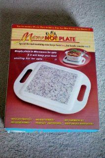 Micro Hot Plate    The Incredible Plate That Is Ideal For All Hot Foods and Drinks!!! Special thermal insulating stone keeps foods hotbut handle remains cool!! : Home And Garden Products : Everything Else