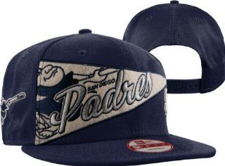 MLB New Era San Diego Padres OL Pennant Snapback Adjustable Hat   Navy Blue : Baseball Caps : Sports & Outdoors