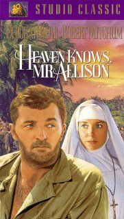 Heaven Knows Mr Allison [VHS]: Robert Mitchum, Deborah Kerr, Oswald Morris, John Huston, Russell Lloyd, Buddy Adler, Eugene Frenke, Charles Shaw, John Lee Mahin: Movies & TV