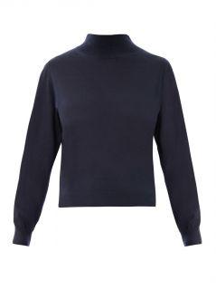 High neck bi colour cashmere sweater  Balenciaga  MATCHESFAS