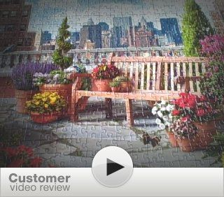 Rooftop Garden 500 Piece Large Format Puzzle Toys & Games