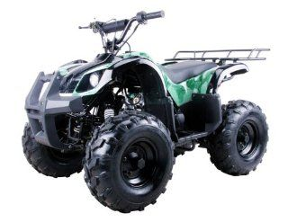 "125cc Four Wheelers 8"" Tires with Reverse, Green Camo: Automotive"