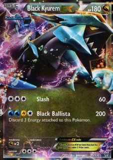 Black Kyurem Ex Plasma Storm 95/135 Pokemon Card Ultra Rare: Everything Else
