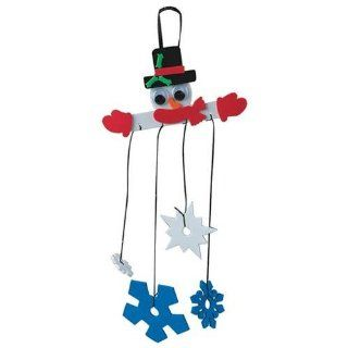 Snowman Mobile Craft Kit (Makes 12): Toys & Games
