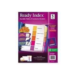 "Avery Consumer Products Products   Ready Index Dividers, 1 8 Tab, 3HP, 8 1/2""x11"", Asst   Sold as 1 ST   Coordinated divider system makes referencing easy and delivers a professional look. The set includes a reinforced Table of Contents page, mat"