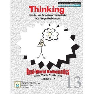 Thinking   Range, Mean, Median, Mode Worksheets   3rd, 4th, 5th Grade Math (Just Turn and Share, Volume 13) Kathryn Robinson 9781931970075 Books