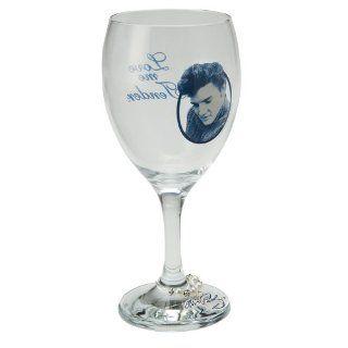 Vandor Elvis Presley Wine Glasses, Set of 2 Kitchen & Dining