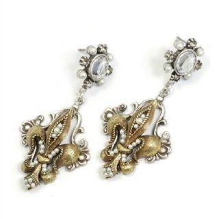"Sweet Romance, Ollipop, Designer French Ritz Fleur De Lis Earrings, Size: 2""l X 1""w, If You'd Been Shopping the Flea Markets of Paris As Late As the 1980s, You Might Still Have Been Able to Acquire Francophile Inspired Fashion Baubles Such As"