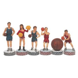 Basketball Hand Painted Polystone Chessmen   Chess Pieces