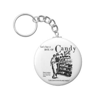 1930 Candy Newspaper Advertisement Key Chains