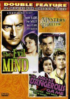 THE EVIL MIND+THE MOST DANGEROUS GAME[SLIM CASE] (DOUBLE FEATURE): CLAUDE RAINS FAY WRAY / JOEL McCREA FAY WRAY, MAURICE ELVEY / IRVING PICHEL: Movies & TV