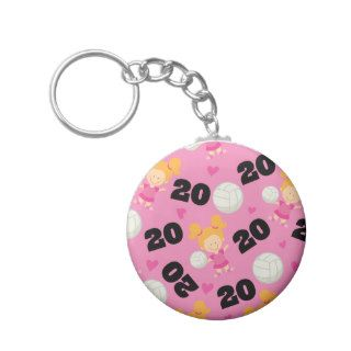 Gift Idea For Girls Volleyball Player Number 20 Key Chains