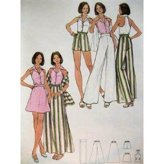 VINTAGE MOSTLY UNCUT & OOP BUTTERICK 3156 MISSES' TOP, SKIRT, PANTS, SHORTS & STOLE SEWING PATTERN SIZE: 12 (THE FASHION ONE): BUTTERICK: Books