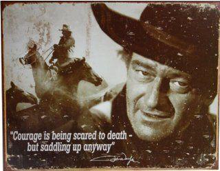 John Wayne Courage Quote Tin Sign   Decorative Signs