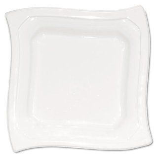 """Heavy Duty Plastic Plates, Square, 10 1/4"""", White, 20/Pack Computers & Accessories"""