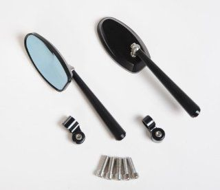 Universal Motorcycle Bar End Mirror Honda Suzuki Yamaha Kawasaki 8mm 10mm Bolt : Bike Mirrors : Sports & Outdoors