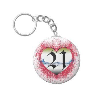 Gothic Heart 21st Key Chain