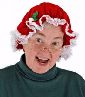 Deluxe Mrs. Santa Claus Muffin Cap Std Size Adult Clothing