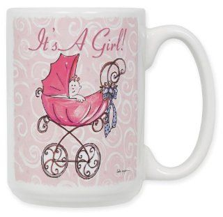 It' A Girl   Carriage Coffee Mug Kitchen & Dining
