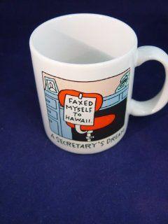 Shoebox Greetings Secretary's Dream Faxed Myself to Hawaii Coffee Mug Cup