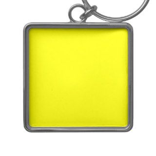 Pure Neon Yellow Color Trend Blank Template Key Chain