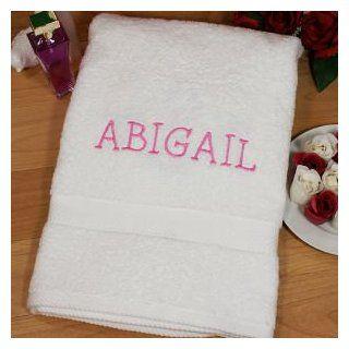 Embroidered Name Bath Towel