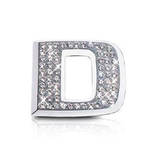 Crystal Letter D Chrome Car Emblem: Automotive