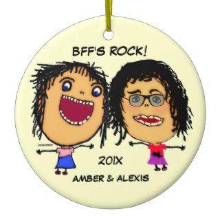 Dibujo animado de la roca de BFF Ornamentos De Reyes de