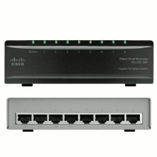 Cisco SG200 08P 8 port (4 Reg + 4 PoE) Gigabit PoE Smart Switch (SLM2008PT NA): Electronics
