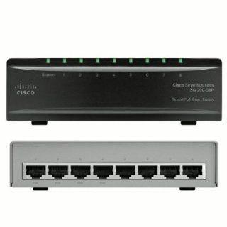 Cisco SG200 08P 8 port (4 Reg + 4 PoE) Gigabit PoE Smart Switch (SLM2008PT NA): Electronics