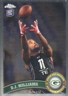 2011 Topps Chrome Football #65 D.J. Williams RC Wisconsin Green Bay Packers NFL Trading Card at 's Sports Collectibles Store