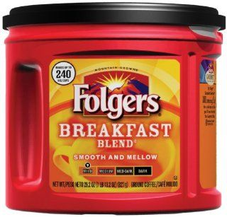 Folgers Breakfast Blend Ground Coffee, 29.2 Ounce Units (Pack of 3) : Grocery & Gourmet Food